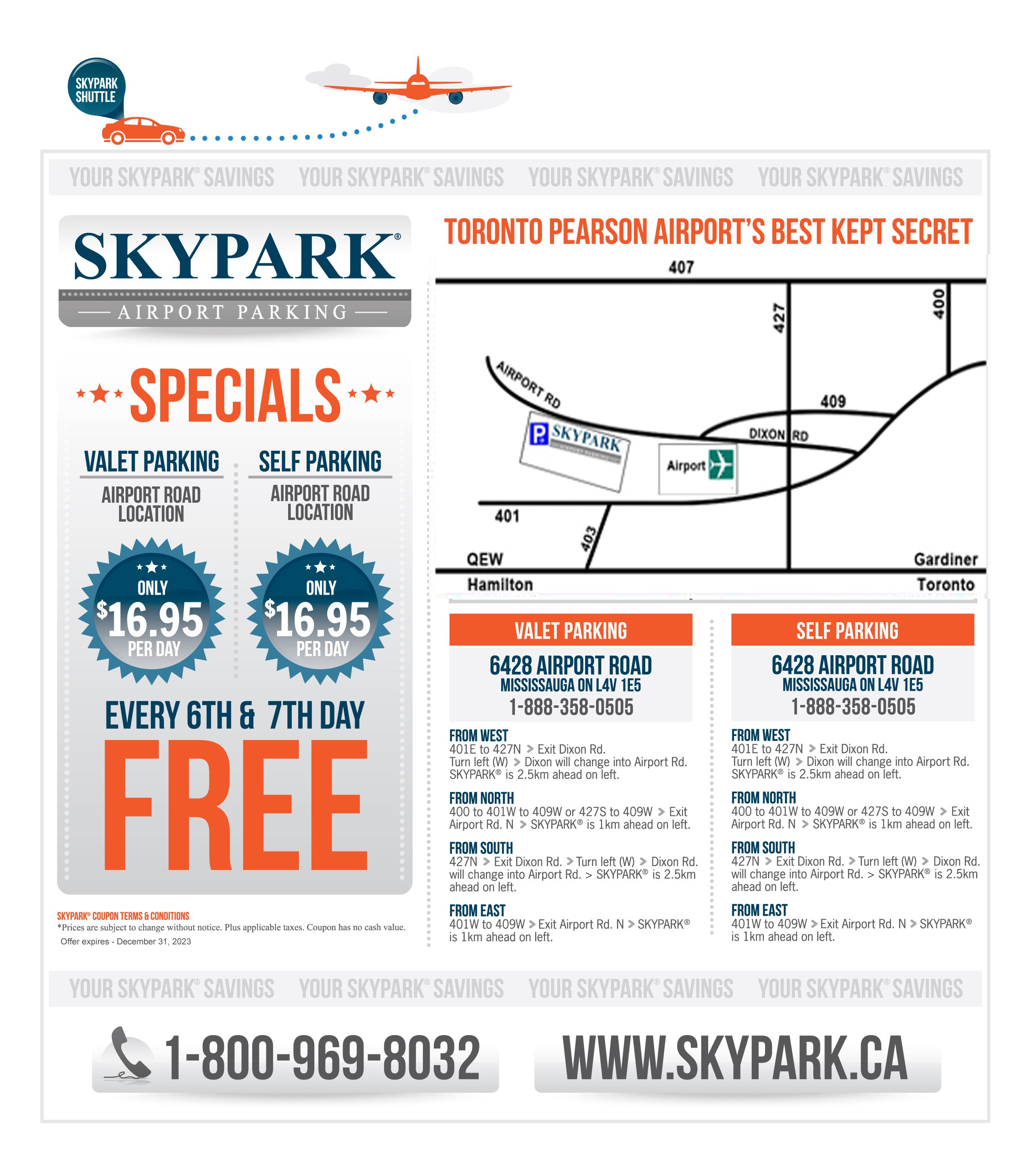 Skypark Airport Parking Toronto Pearson Airport S Best Kept Secret